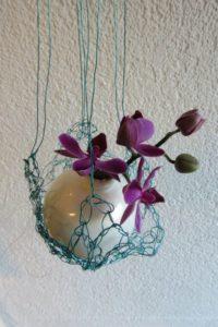 weihnachtskugel, vase, netz
