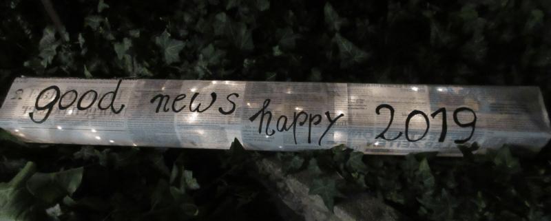 Leuchtregal, Neujahr