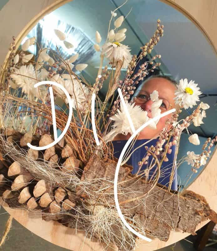 Wand Deko Trocken Blumen